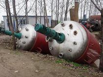 耀辉二手3吨电加热搪瓷反应釜