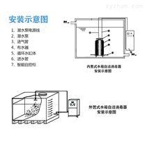 内置式水箱自洁消毒器安装示意图