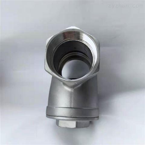 污水设备配套HQ11F球形止回阀|软密封内螺纹