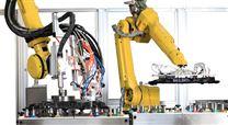 大连华工 机器人自动涂胶机