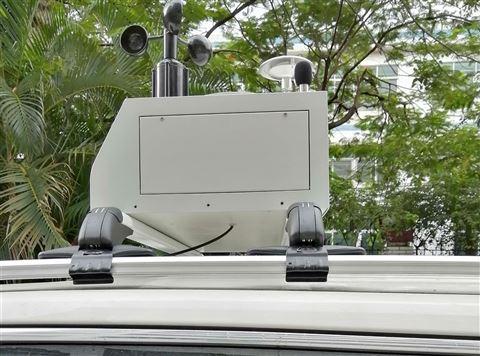 河南走航式环境监测扬尘设备带双色屏显示