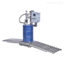 200L半自动称重灌装机+排气压盖机