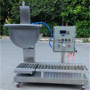 上海广志涂料称重灌装机,50L液体罐装生产线